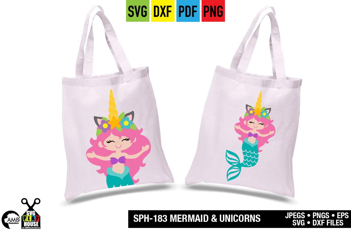 Mermaid and unicorns svg SPH-183 example image 6