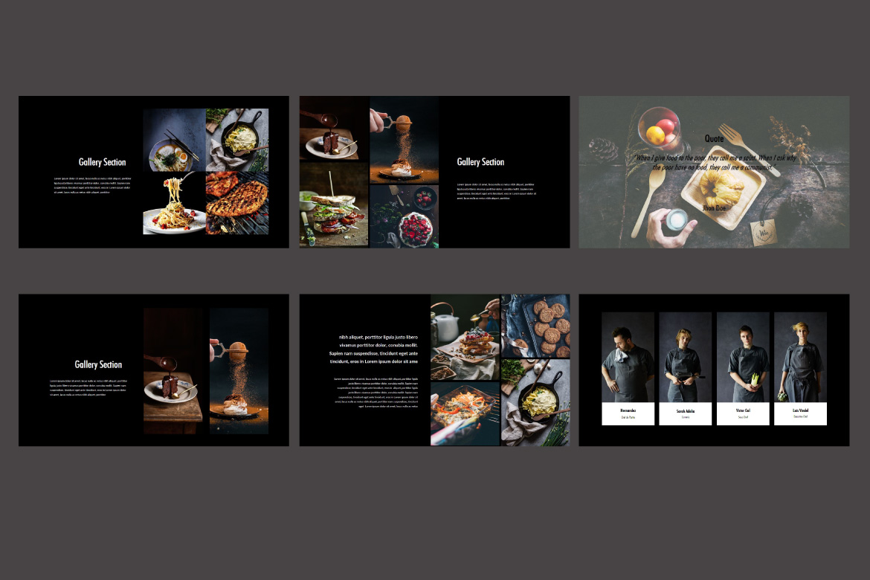 Core - Food Google Slides Dark example image 4