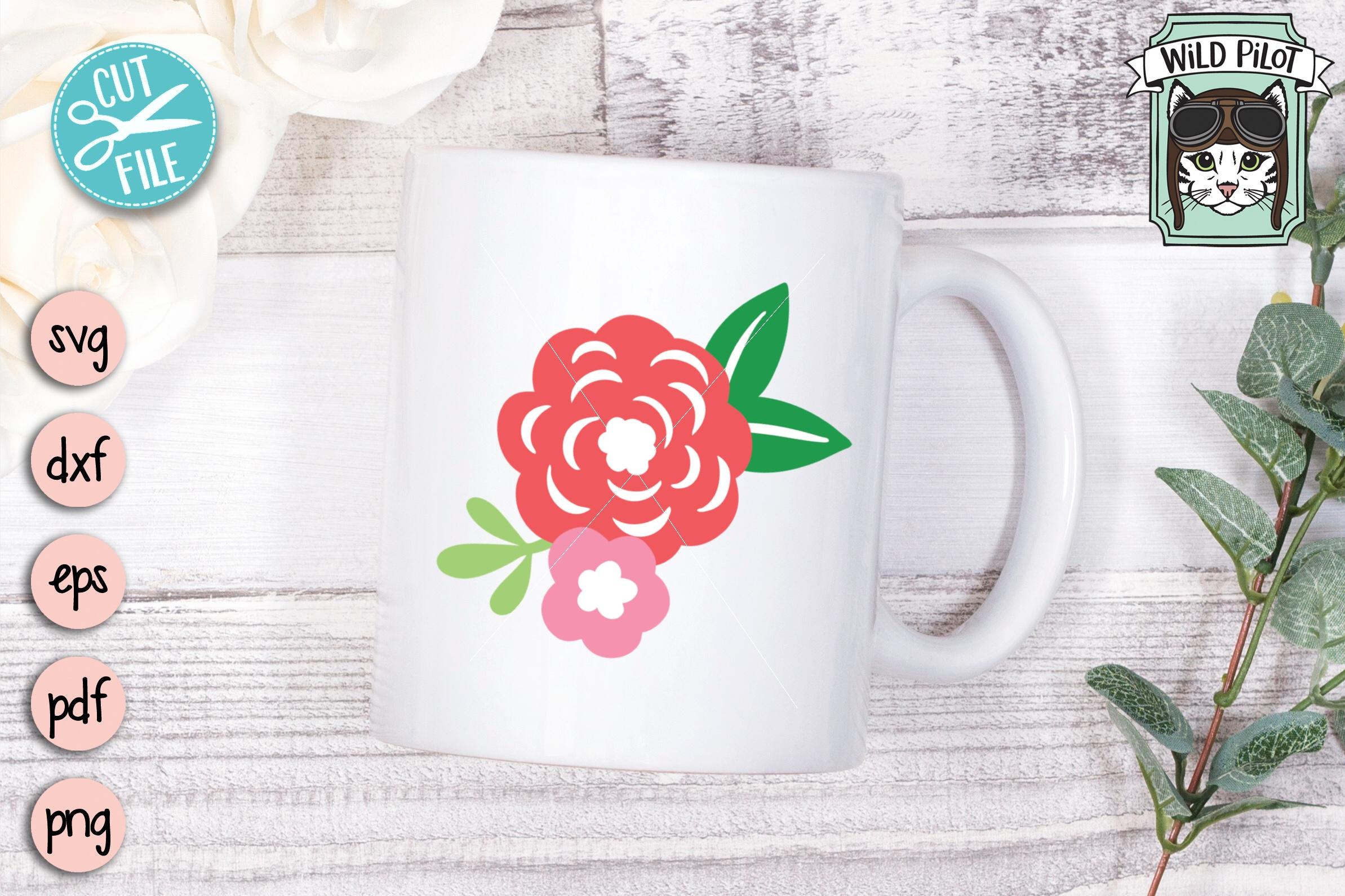 Flowers SVG file, Floral cut file, Flower Border, Stencil example image 3
