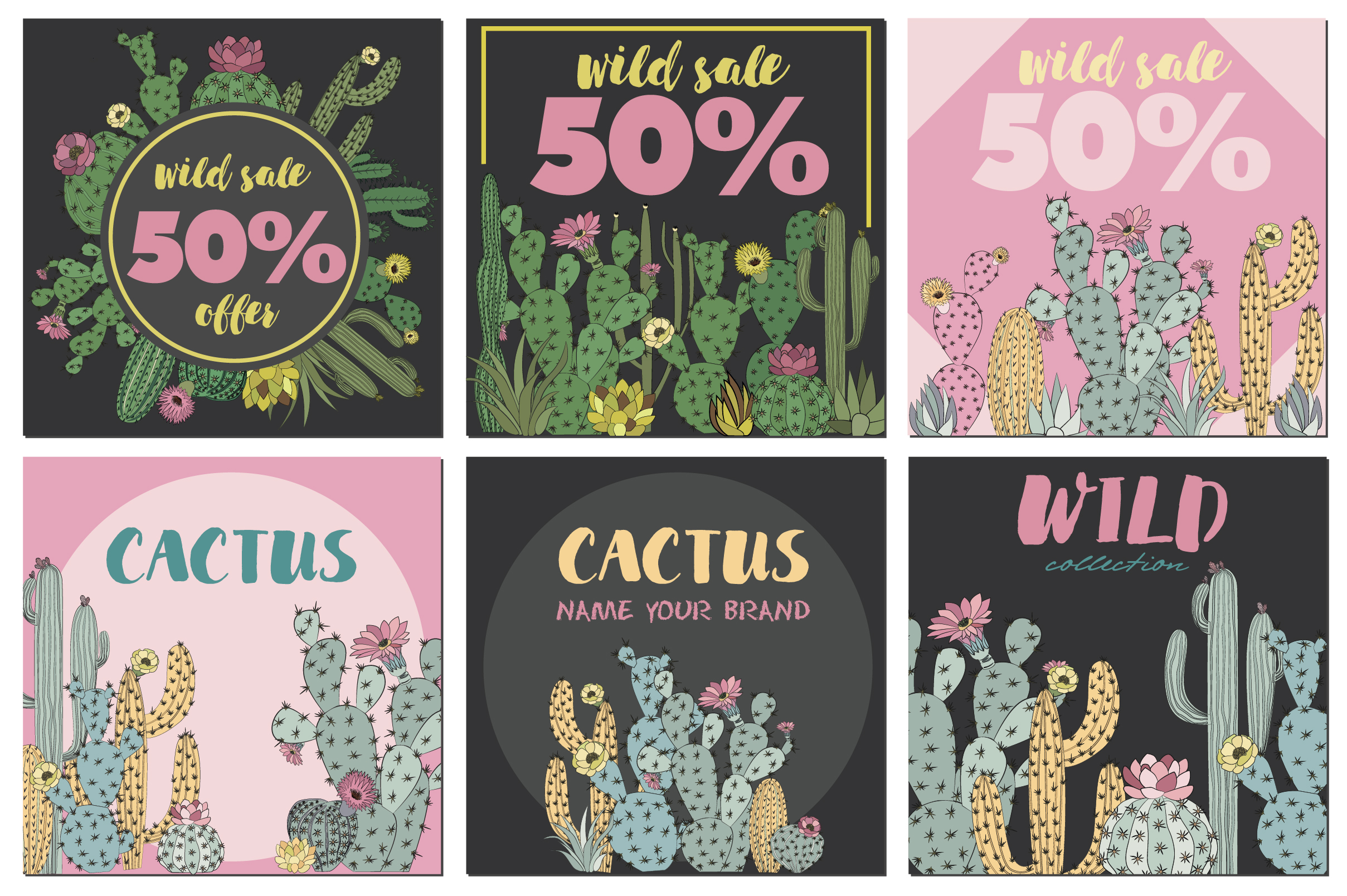 Wild & Free cactus collection example image 6