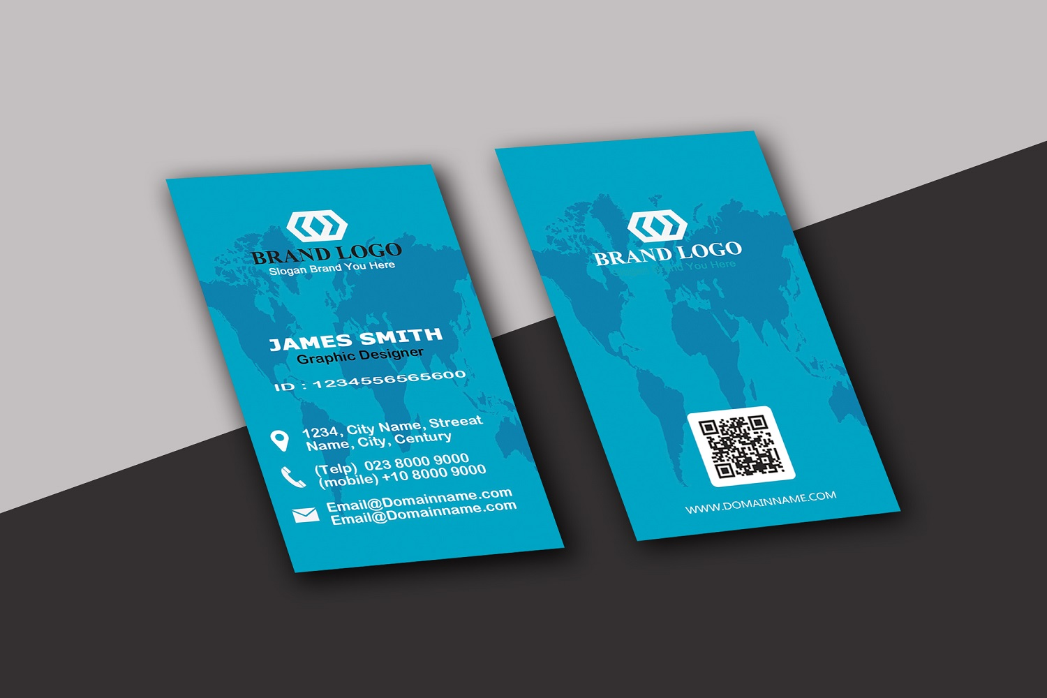 Vertical Business Card example image 3
