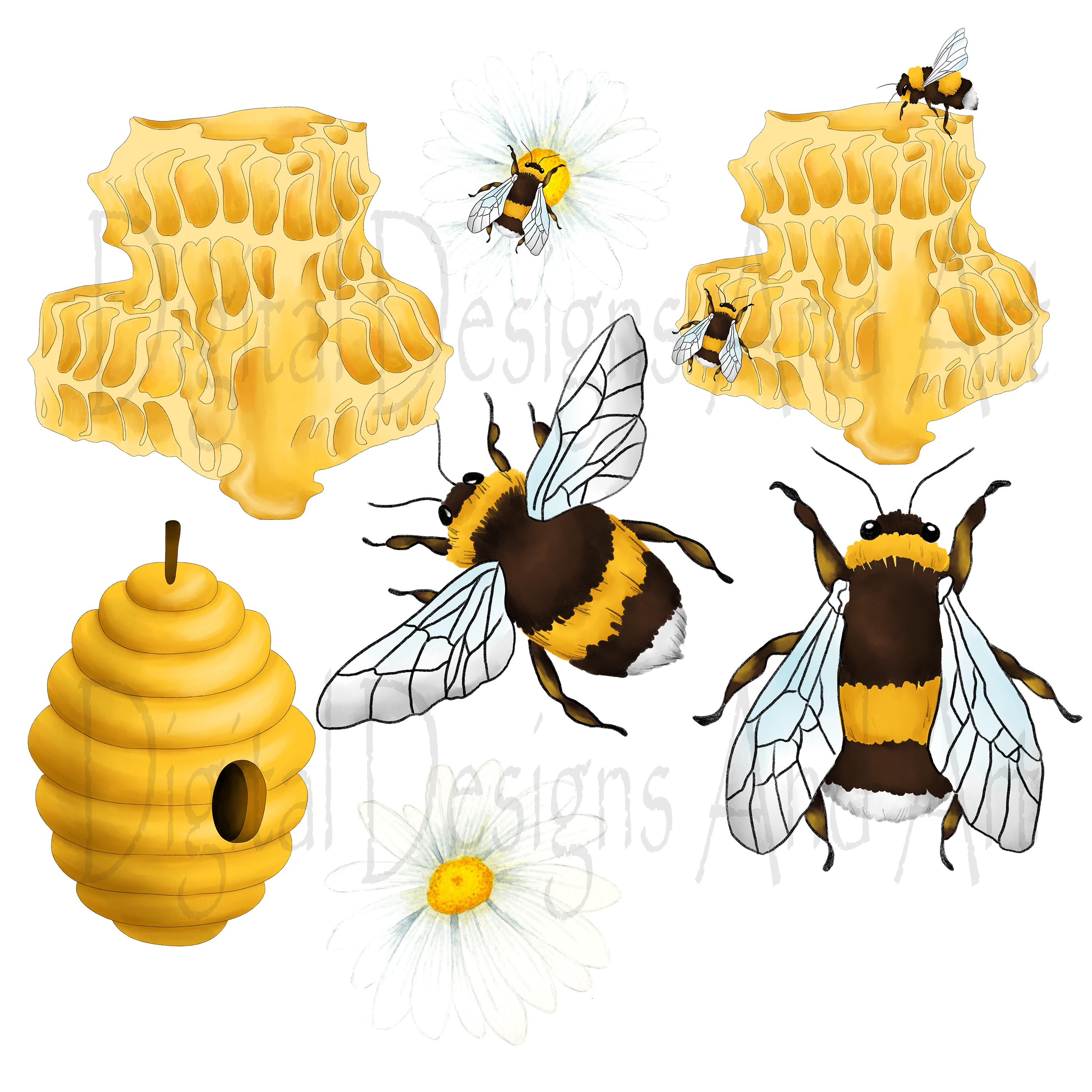 Honey bee clipart example image 6