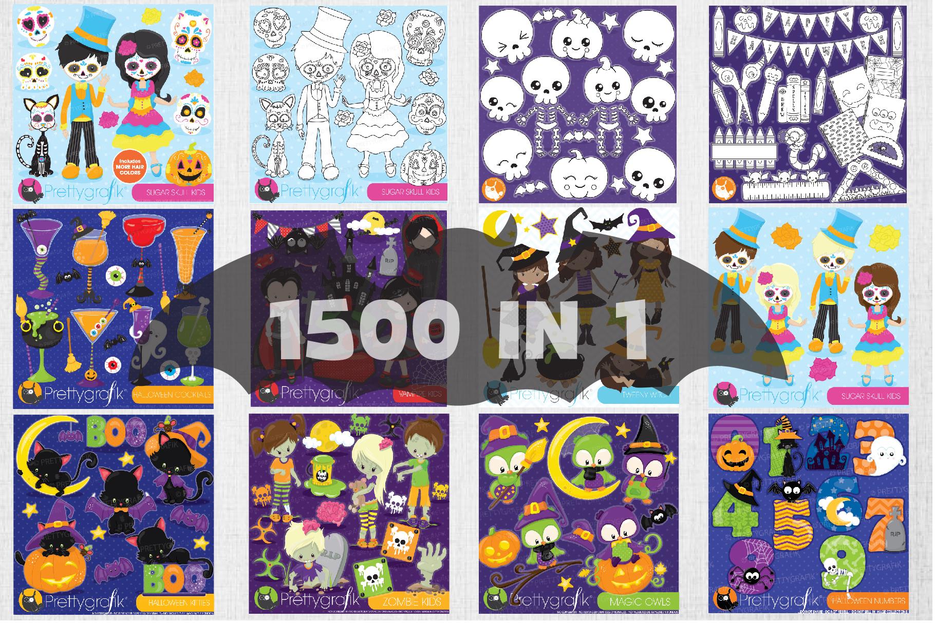 1500 Graphics - MEGA Halloween Bundle - 98OFF example image 4