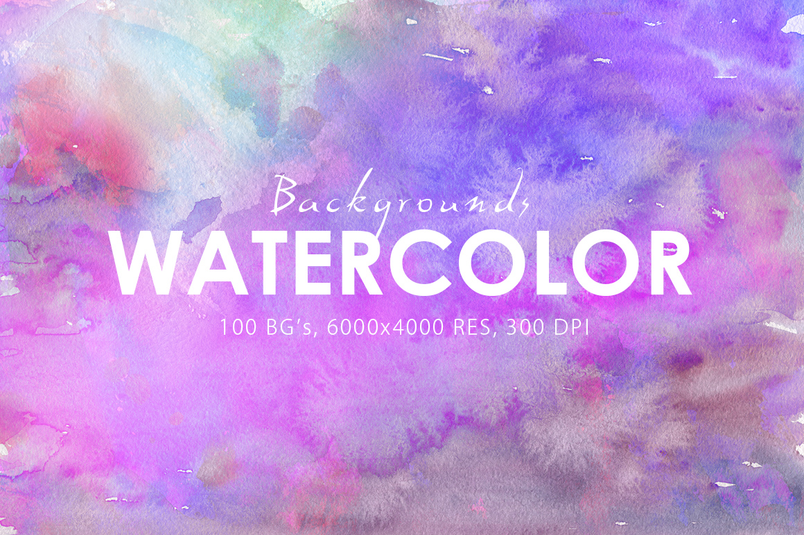 Only Watercolor Backgrounds Bundle example image 7