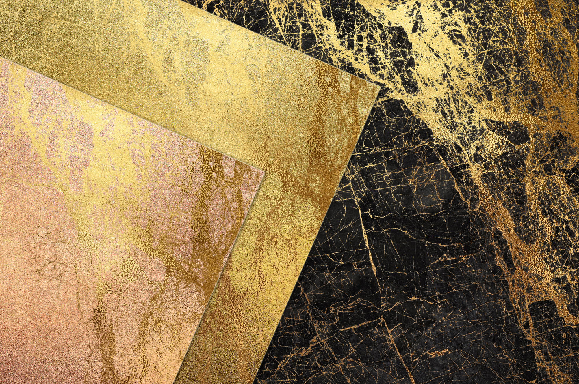 Gold Marble Digital Paper example image 2