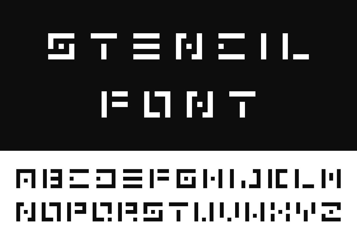 Digital font. English alphabet example image 1