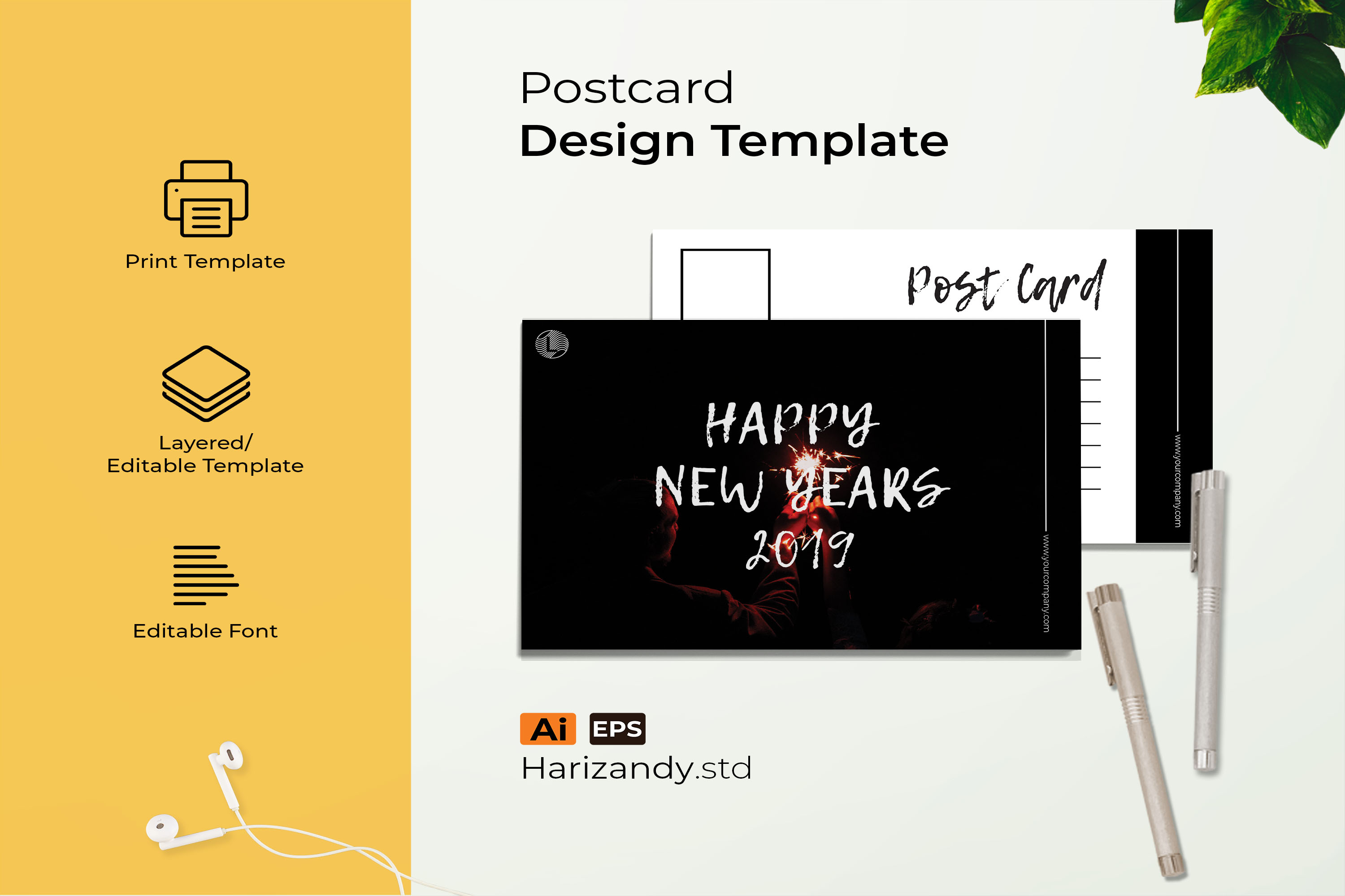 new years post card example image 1
