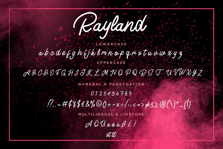 Rayland Signature Monoline example image 2