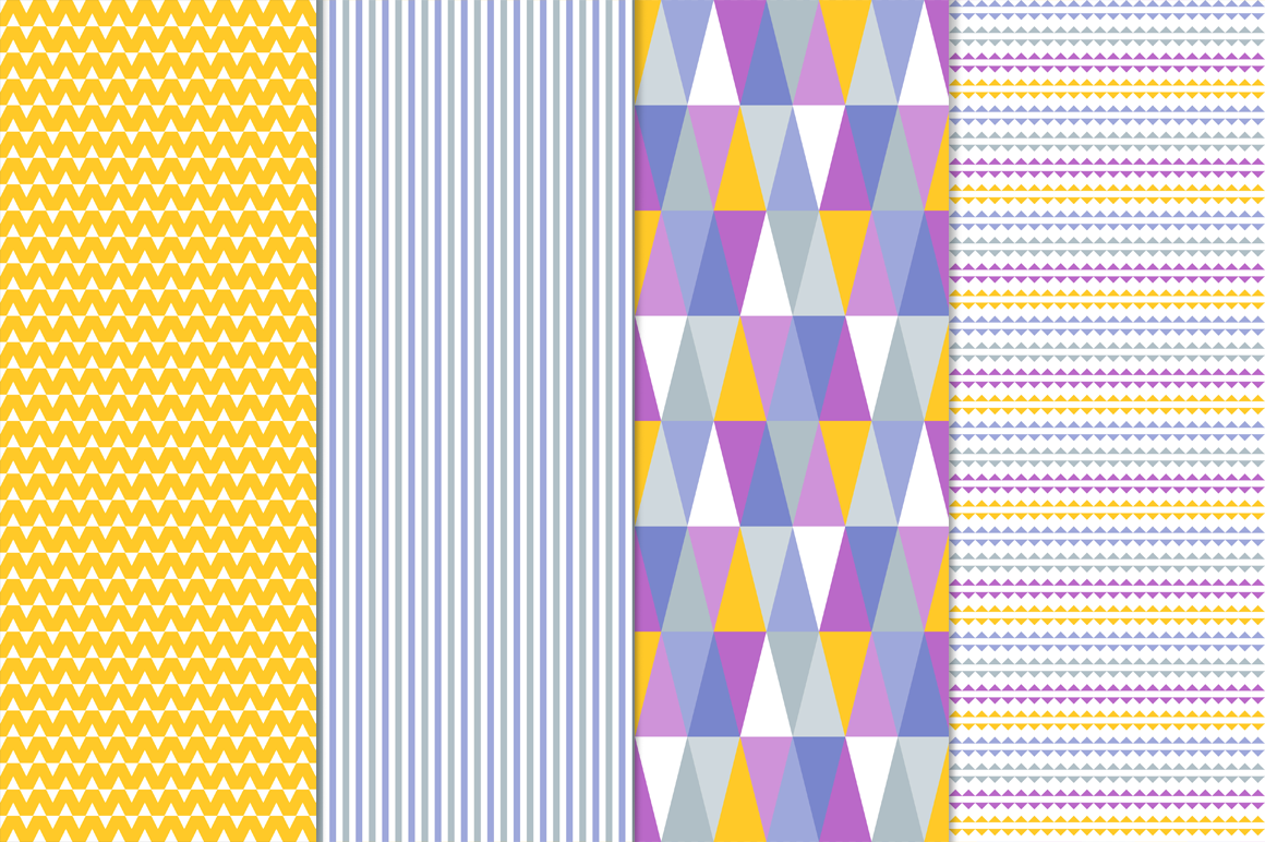 16 Vector Seamless Patterns - Set 1 example image 4