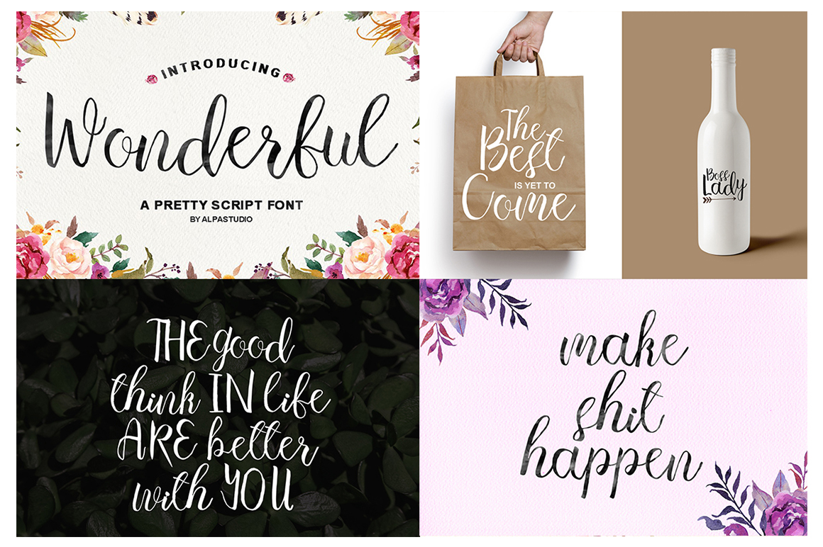 The Handlettered Font Collection example image 11