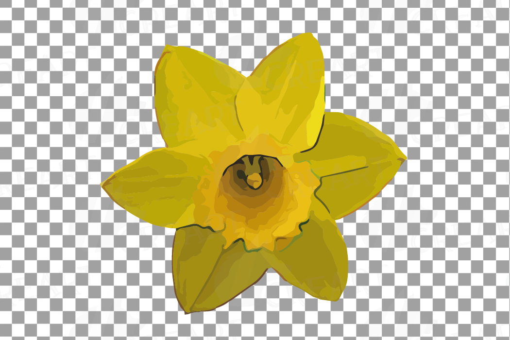 Watercolor yellow flowers and green leaves clip art pack example image 21