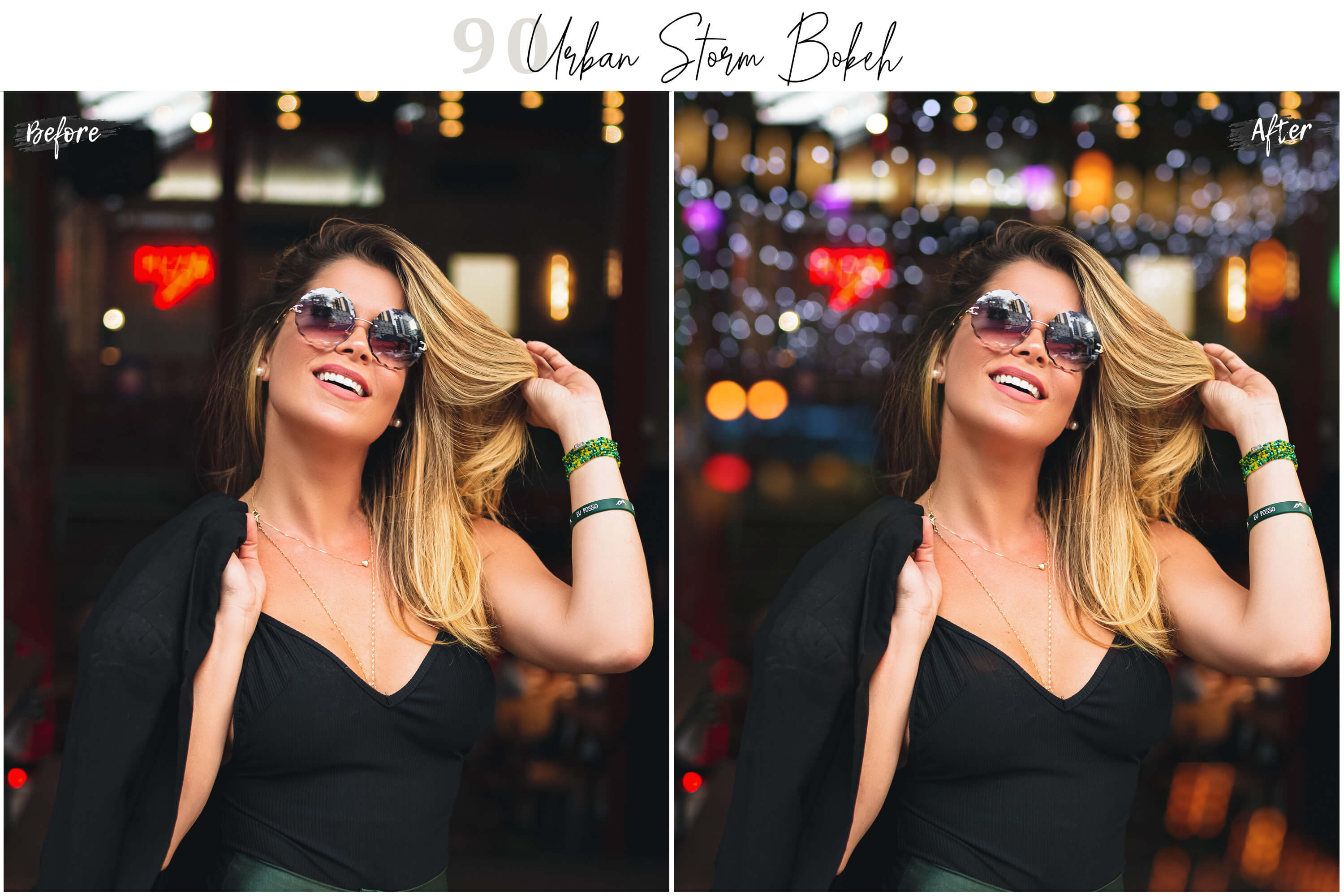 90 Urban Bokeh and lights Effect Photo Overlays example image 5