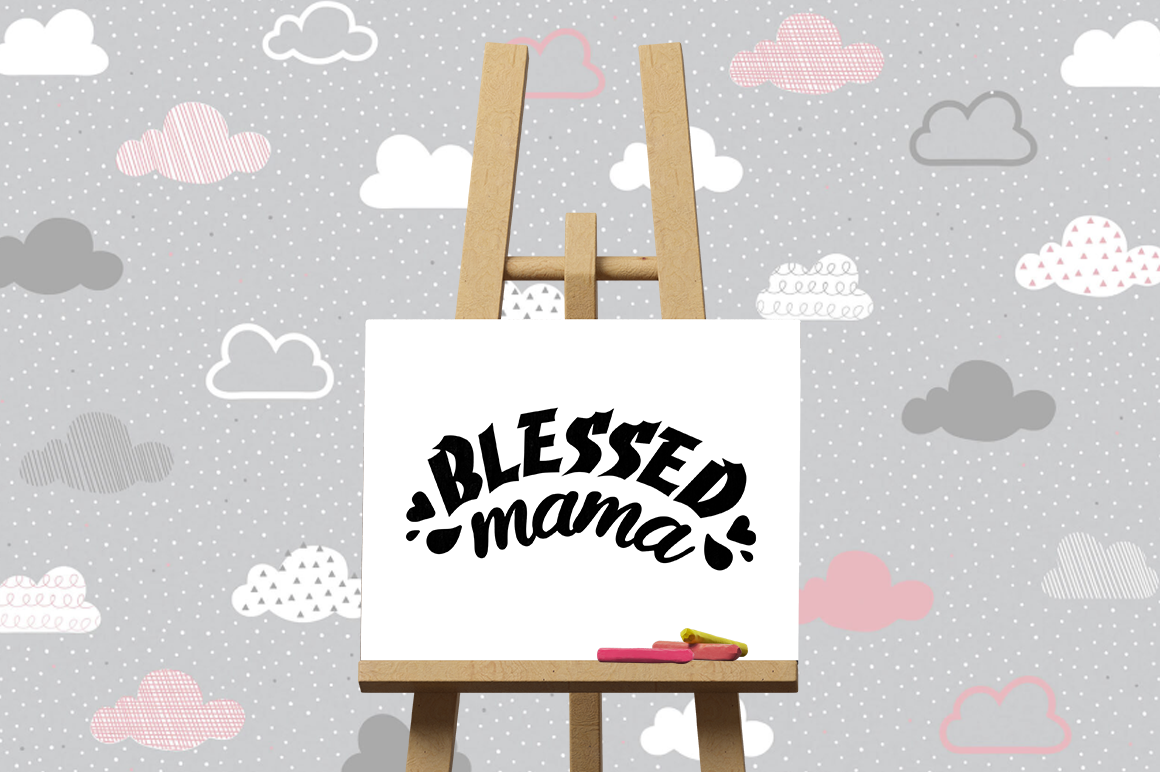 Pregnancy Announcement SVG Cut Files - Blessed mama example image 3
