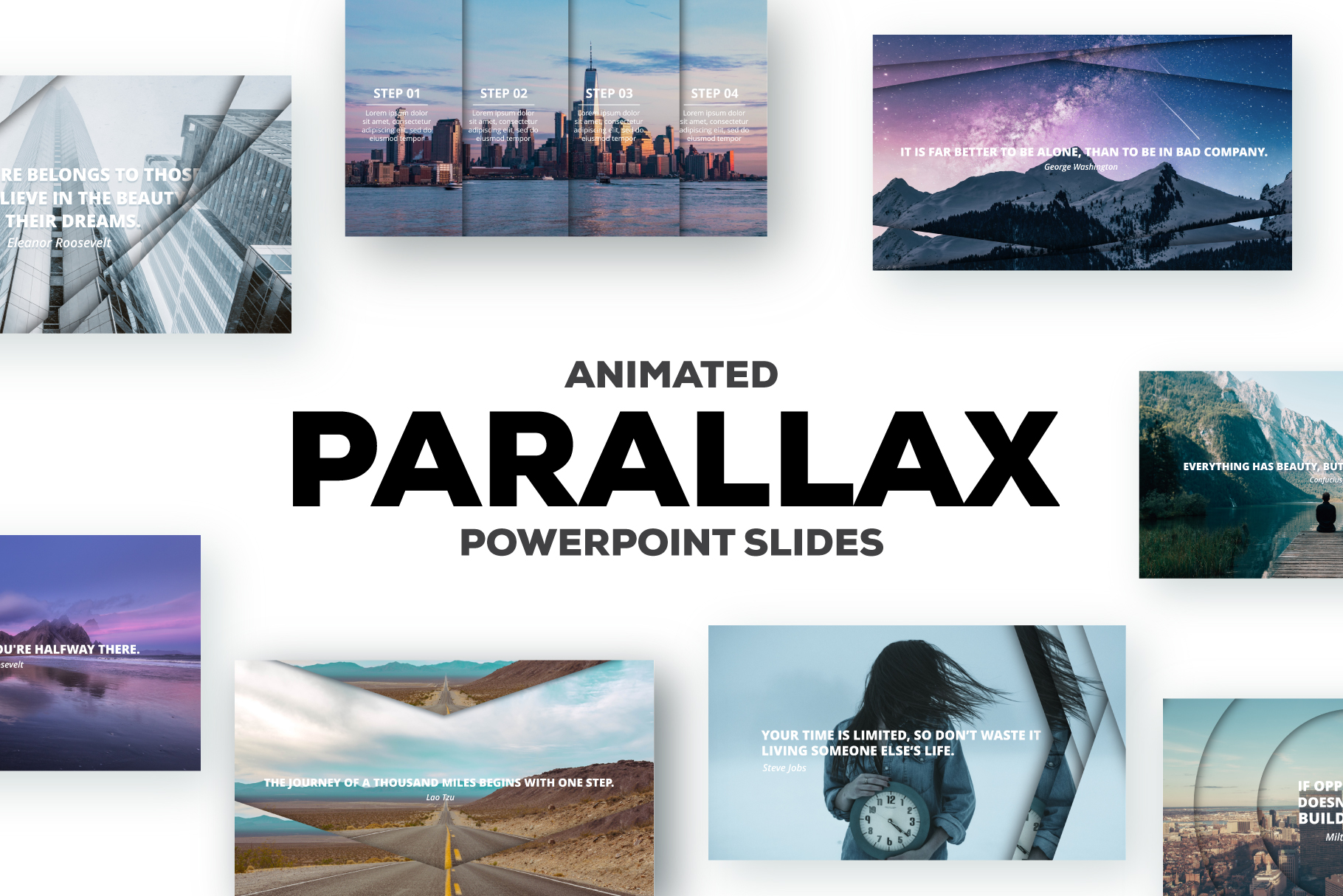 Parallax effect powerpoint slides example image 1