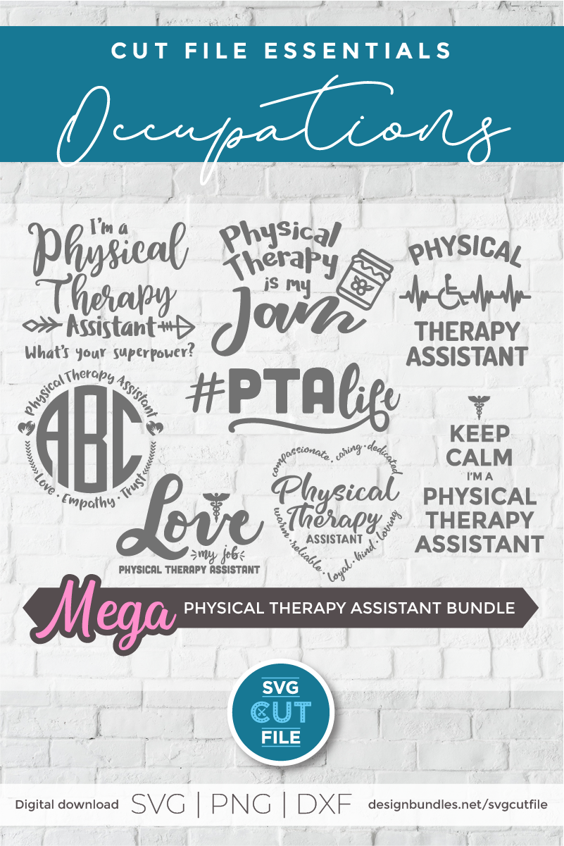 Physical therapy assistant svg bundle, physical therapist example image 2