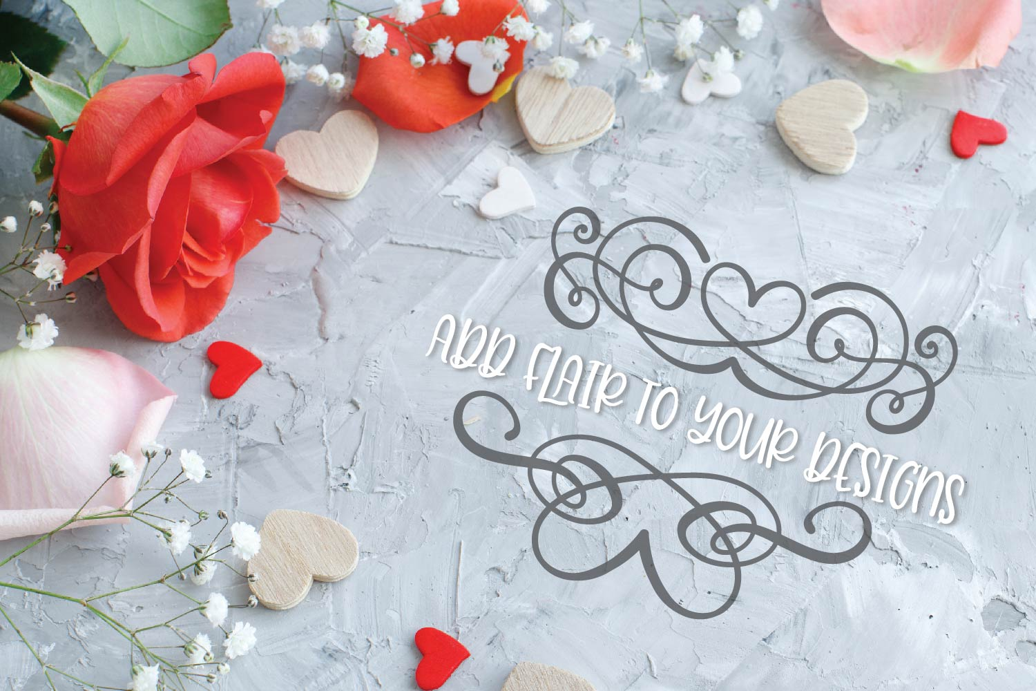 Flourish Font - 60 Hand Drawn Ornament Swooshes example image 7