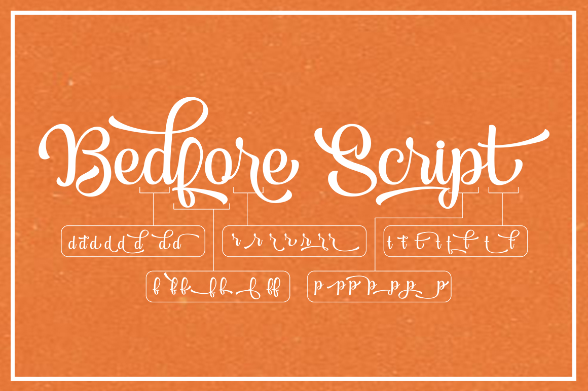 Bedfore Script example image 6