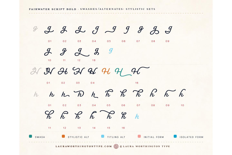 Fairwater Script Bold example image 15