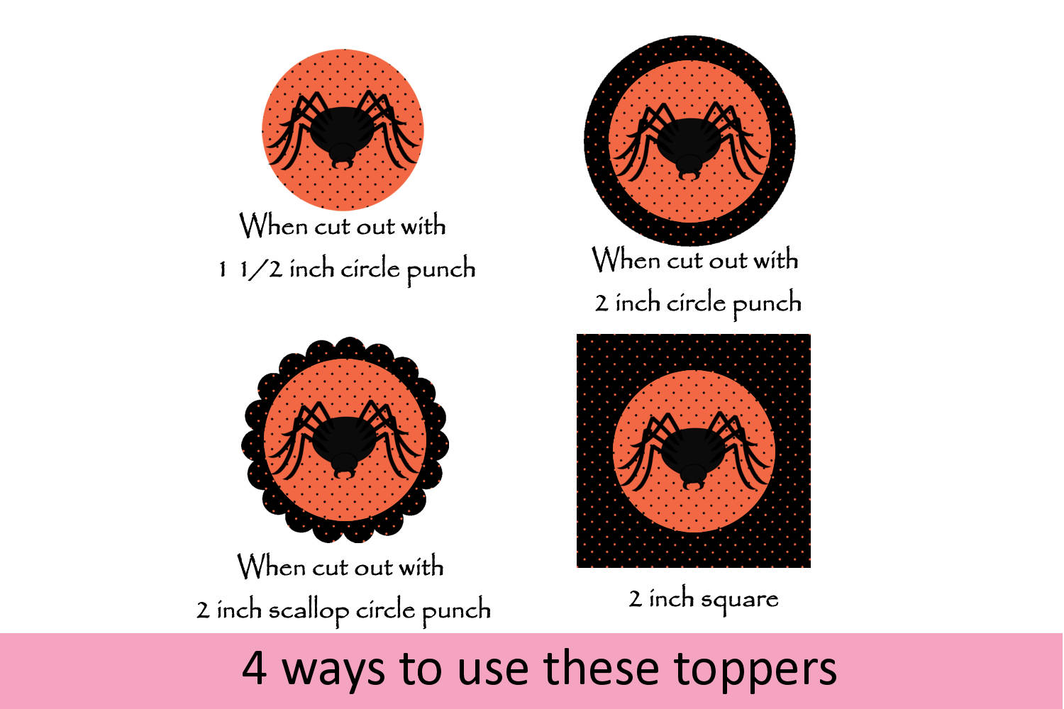 Spooky Halloween Cupcake Toppers - 4 cutting options example image 2