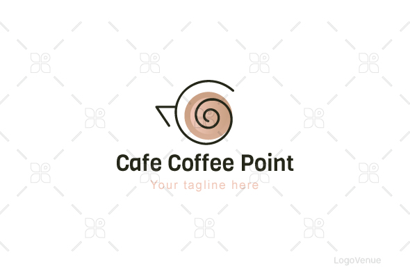 Cafe Coffee Point - Stock Logo Template example image 1