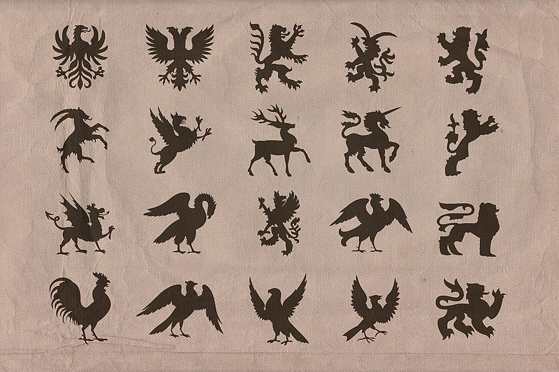 Vintage shapes - Heraldry Symbols 2 example image 3