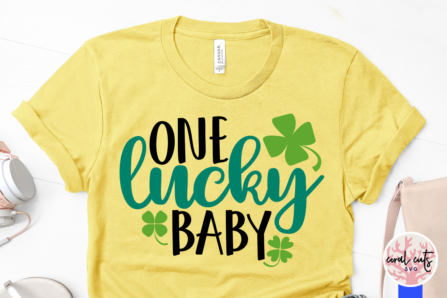 One lucky baby - St. Patrick's Day SVG EPS DXF PNG example image 3