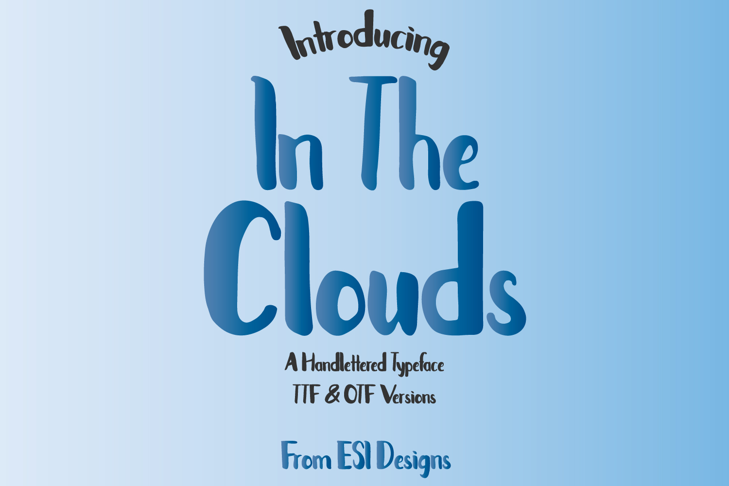 In The Clouds Font example image 1