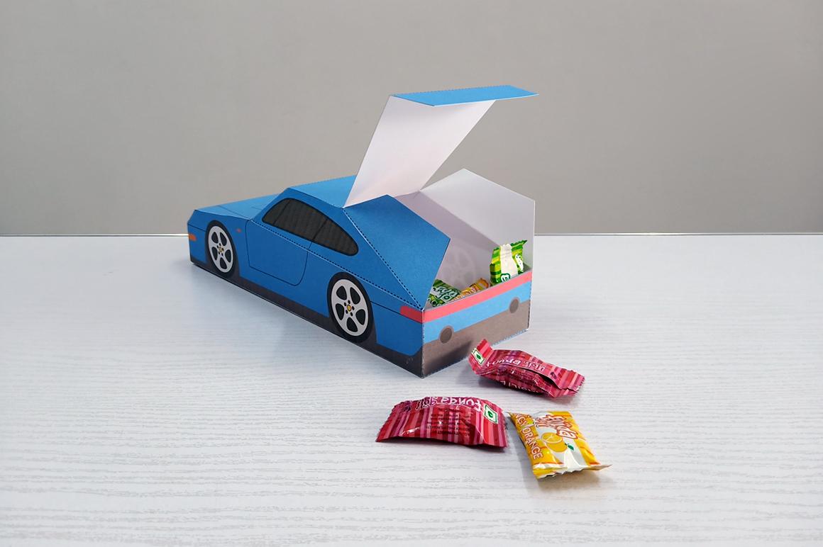 DIY Porsche Car favor - 3d papercraft example image 9