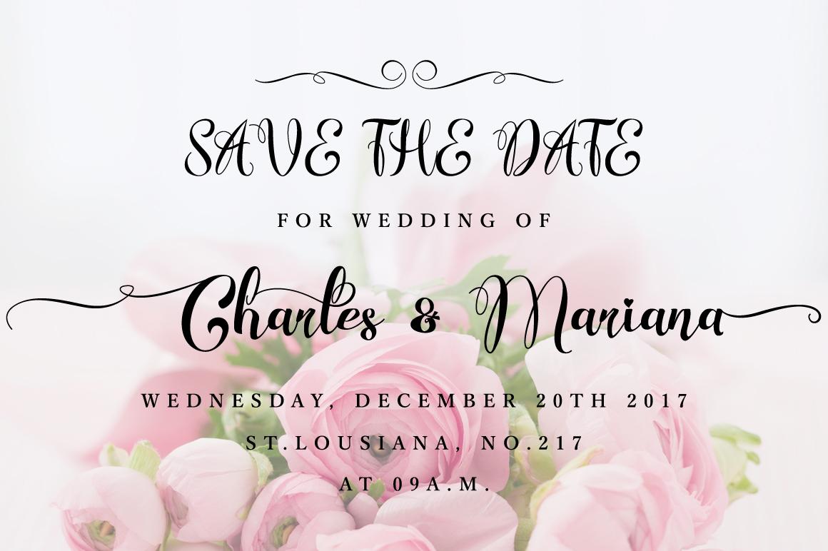 Wonderfebia - Script Wedding Font example image 7