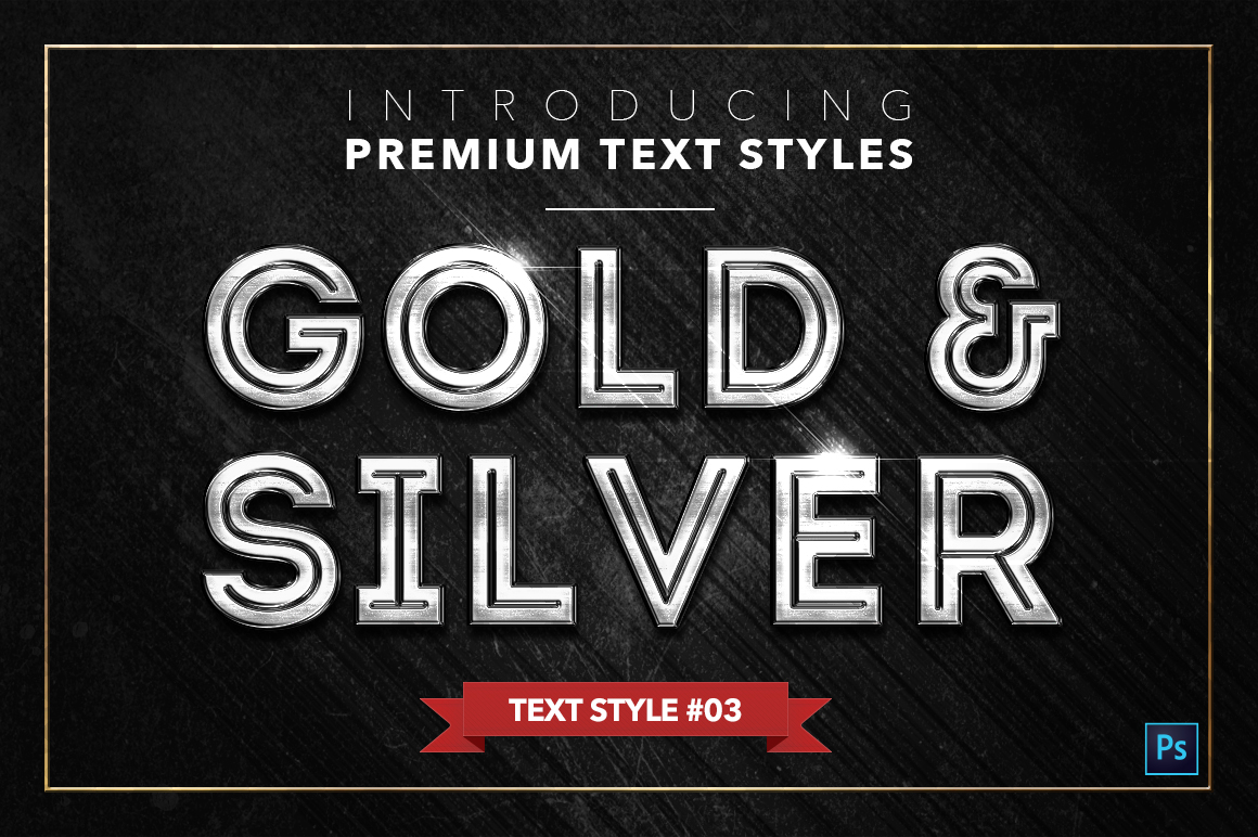 Gold & Silver #2 - 20 Text Styles example image 21