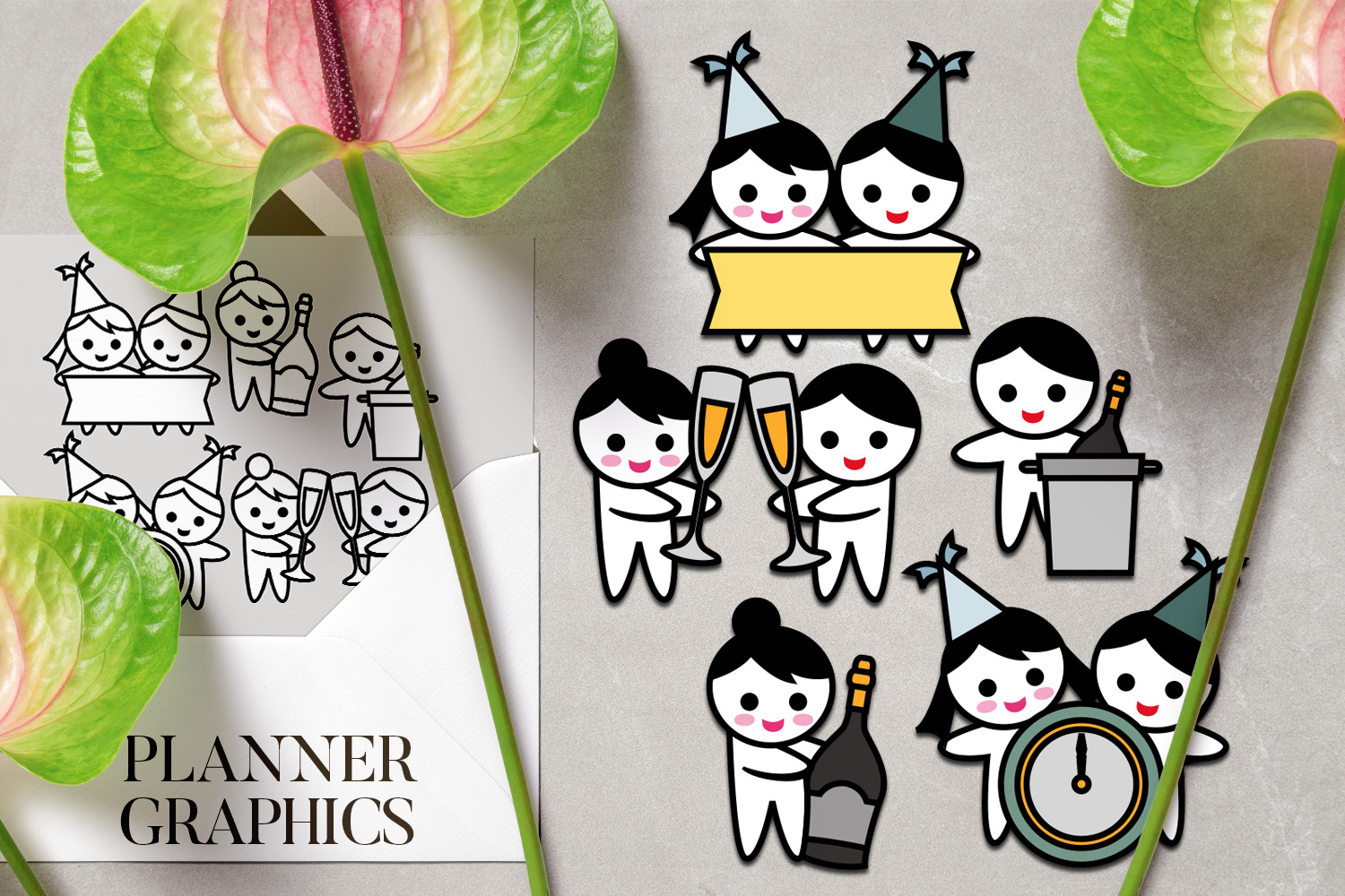 Holidays Bundle - Planner Graphic Illustrations example image 4