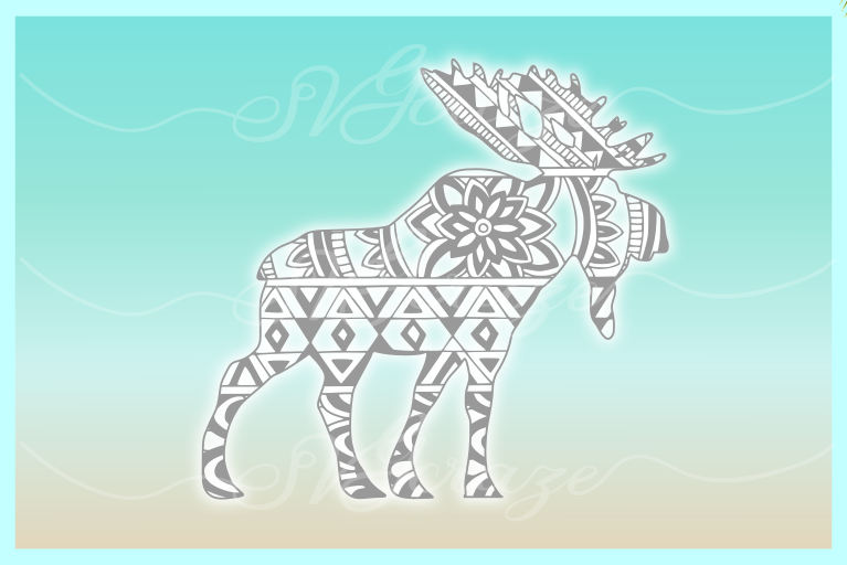 Moose Mandala Zentangle SVG DXF EPS PNG files for Cricut ...