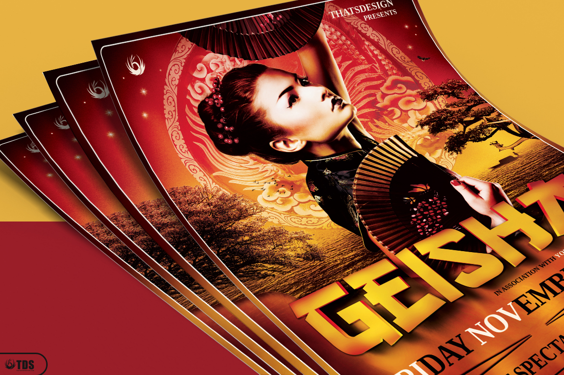 Geisha Night Flyer Template V3 example image 3