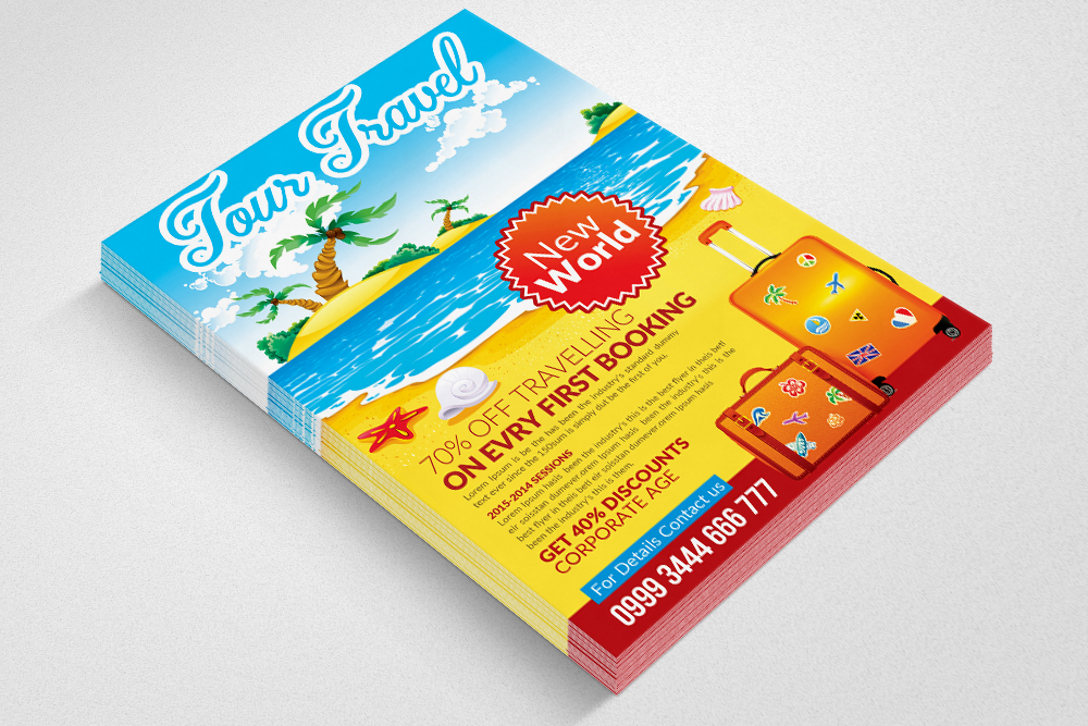Tour Travel Agency Flyer Template example image 2