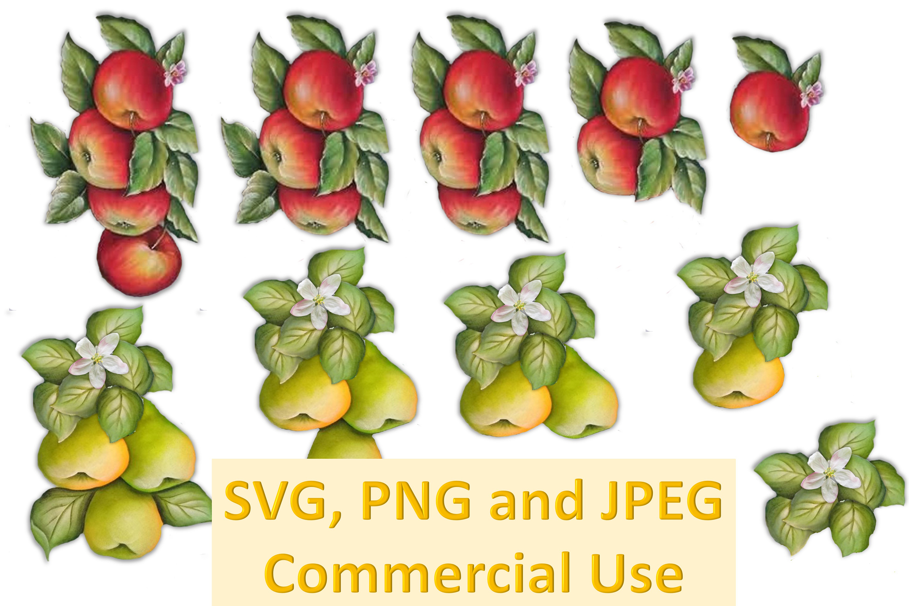 SVG, PNG and JPEG Printable CLipart Bundle Collage CU example image 1