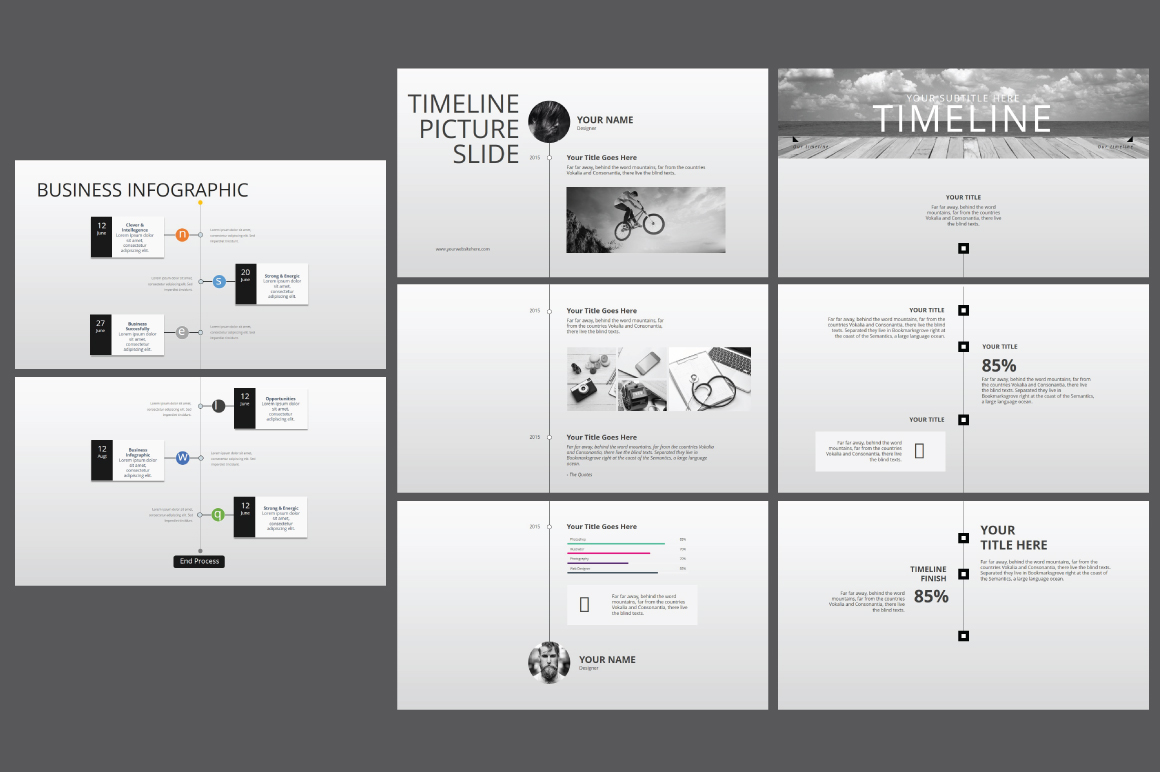 Hipster business Powerpoint Template example image 11