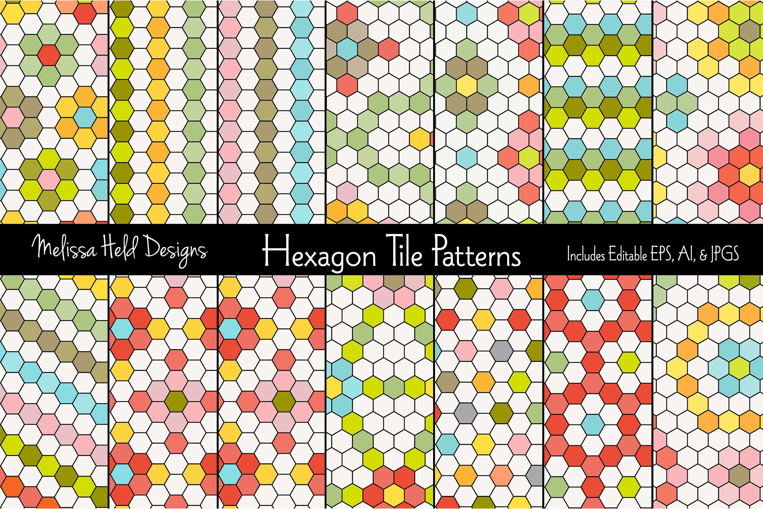 Hexagon Tile Patterns example image 1
