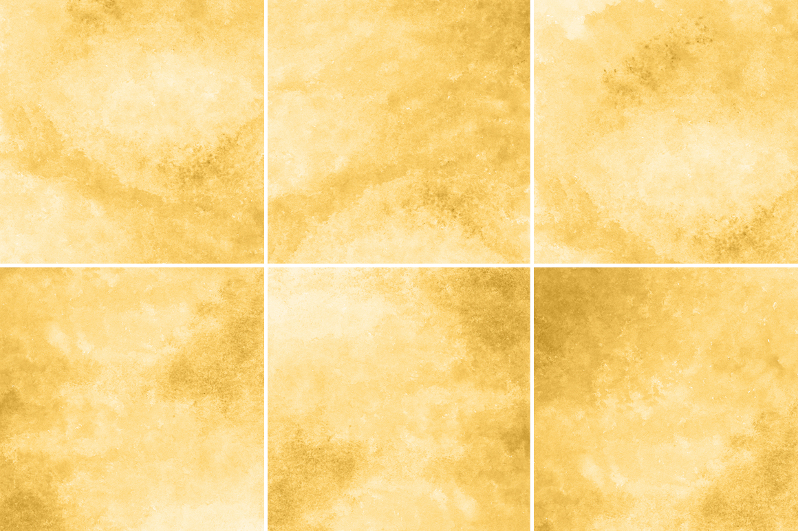 Yellow Gold Watercolor Texture Backgrounds example image 3