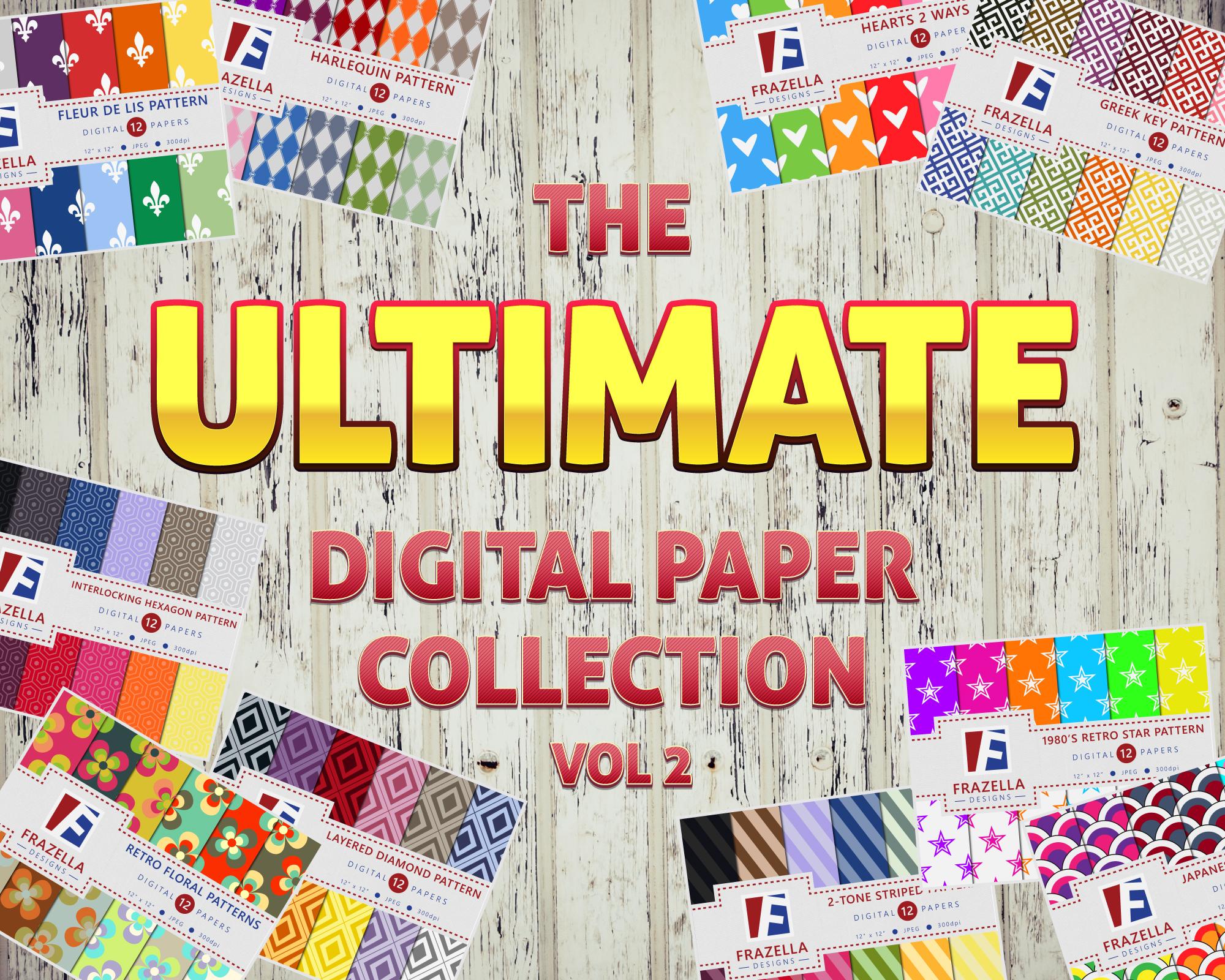 The ULTIMATE Digital Paper Bundle Vol 2 example image 1