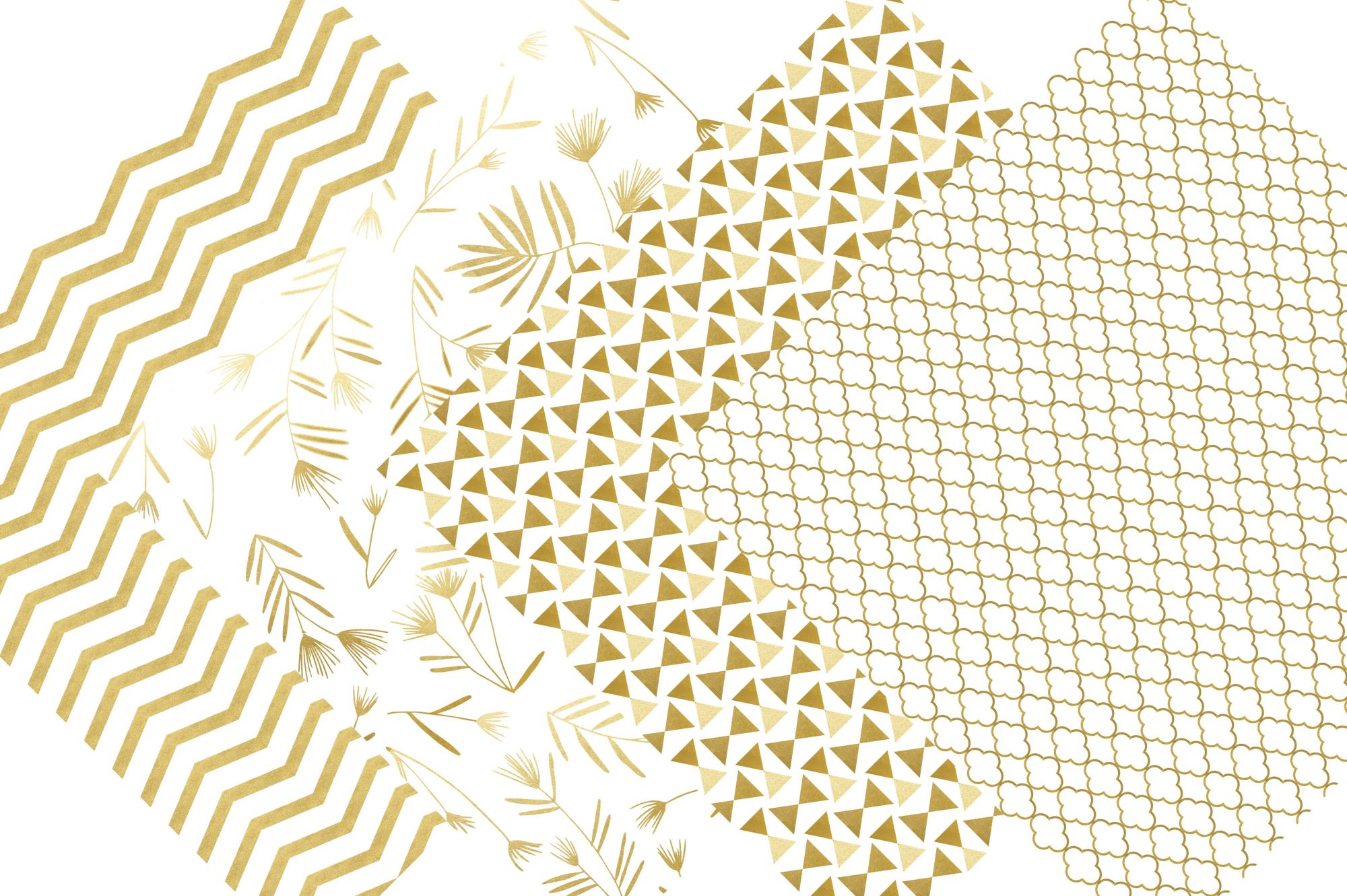 Gold Digital Paper example image 5