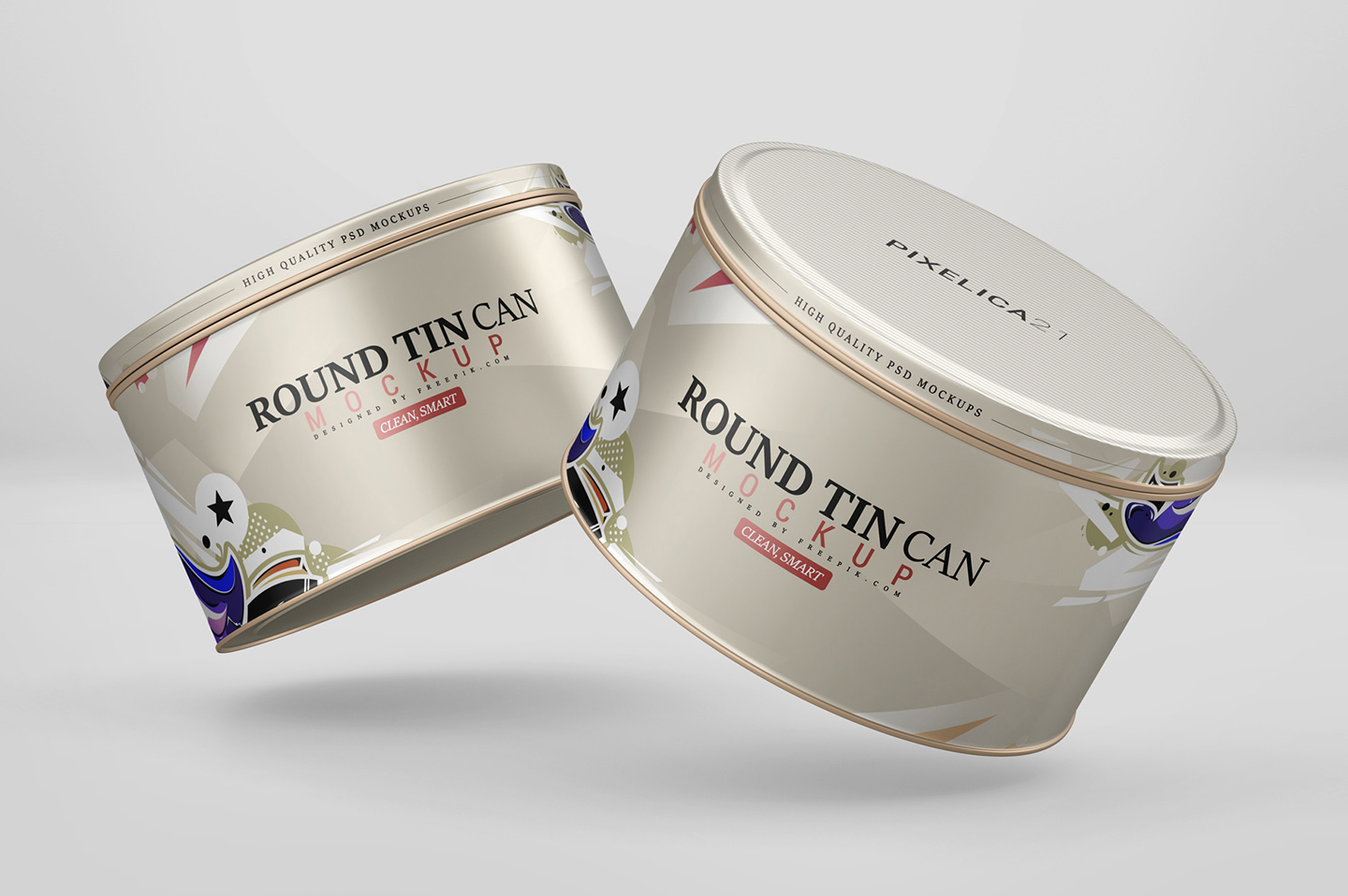 Round Tin Can Mockup example image 4