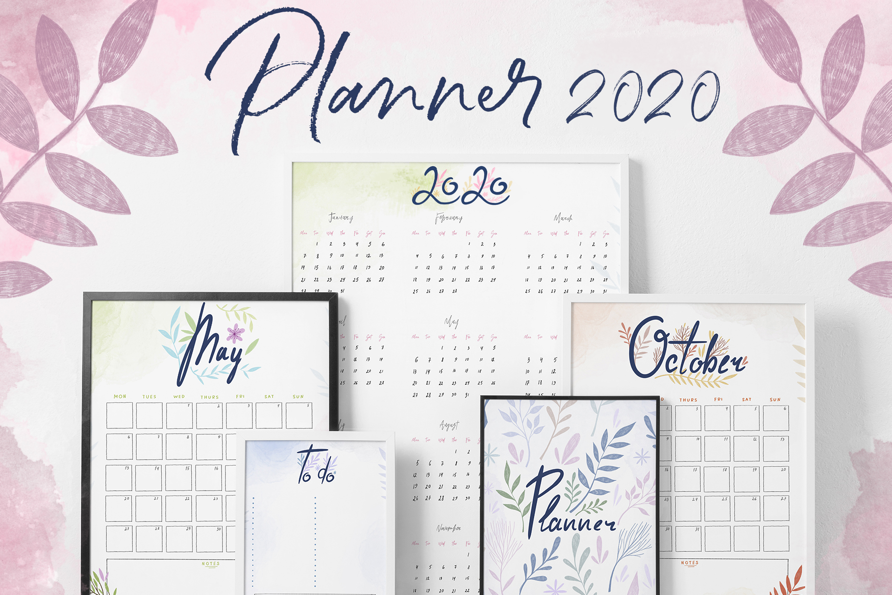 Planner and Calendars 2020 example image 1