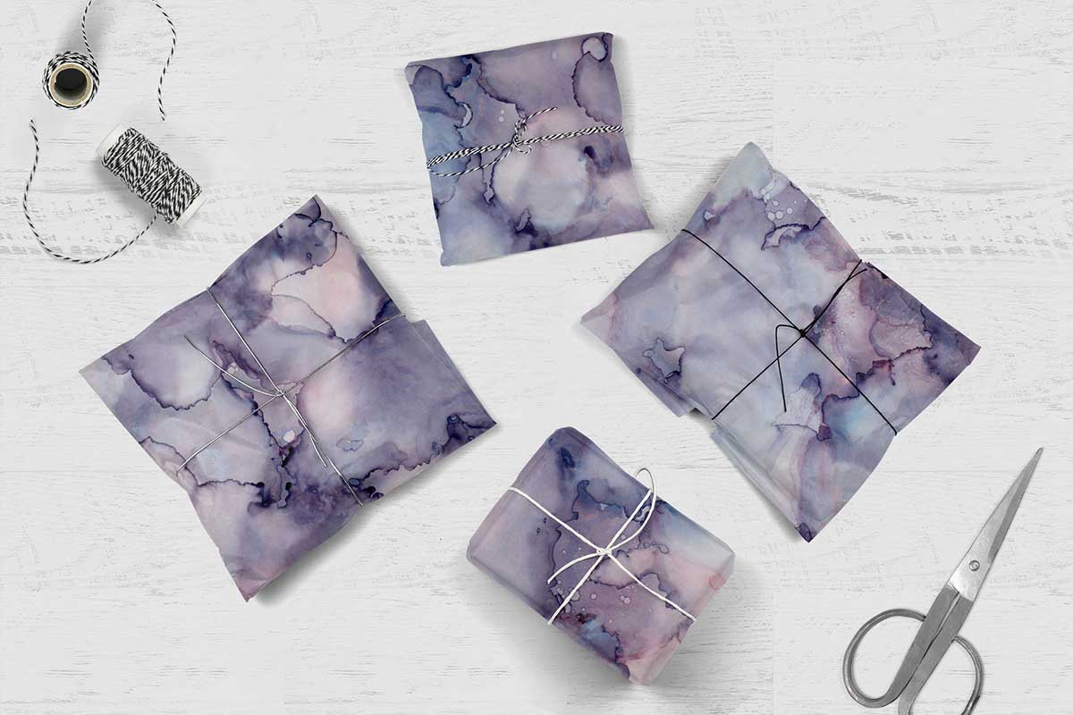 7 Huge Seamless Purple Alcohol Ink Textures example image 10
