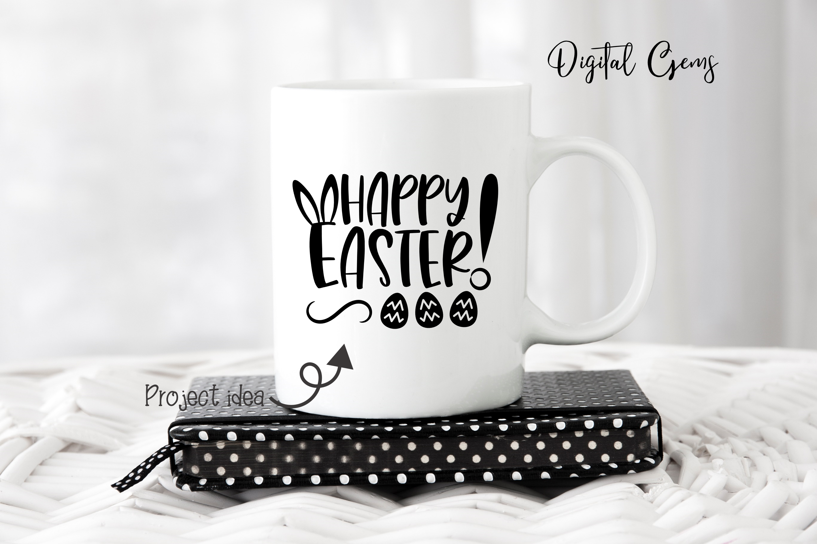 Happy Easter SVG / DXF / EPS / PNG files example image 6