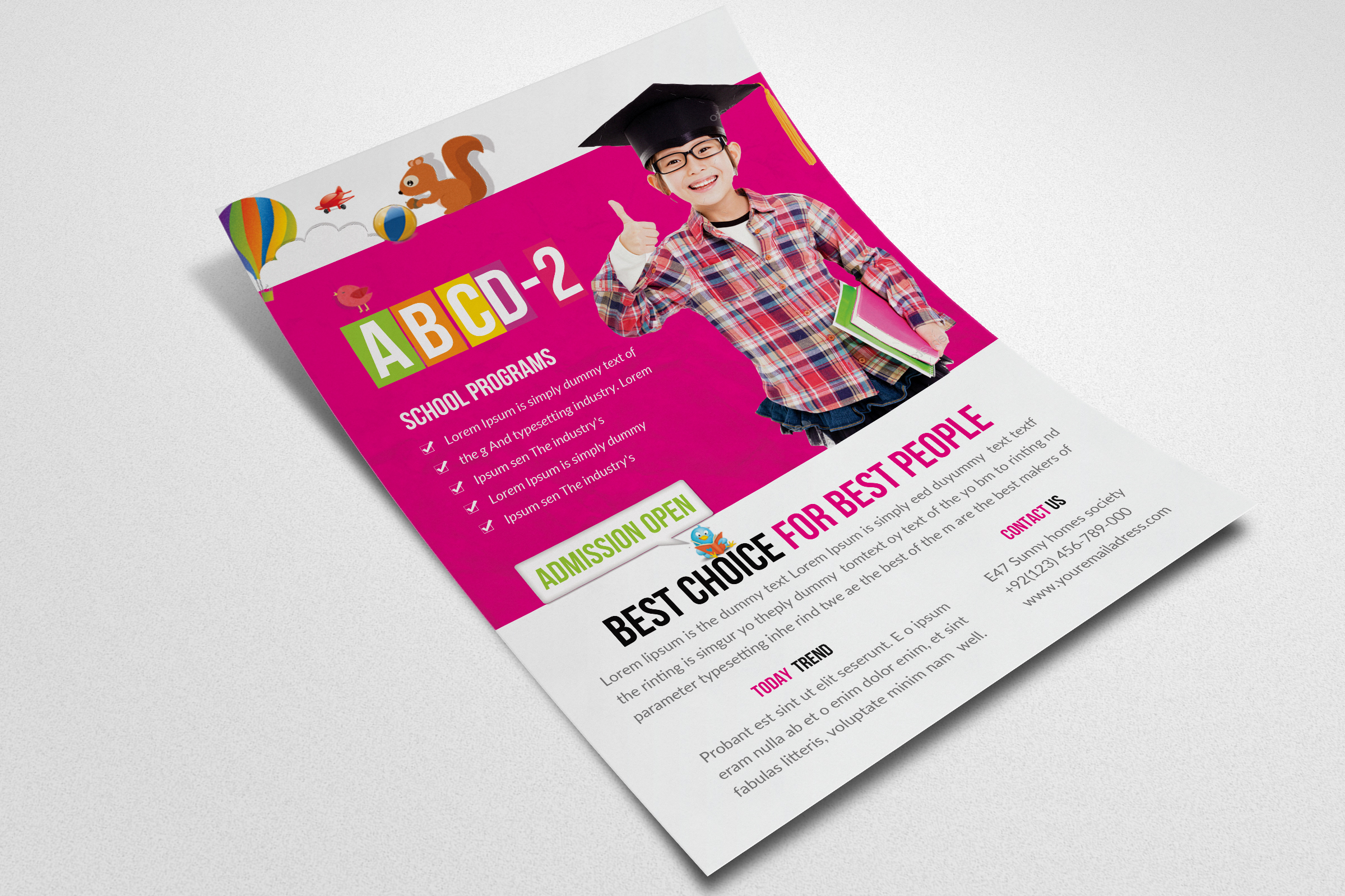 Kids Education Flyer Template example image 3