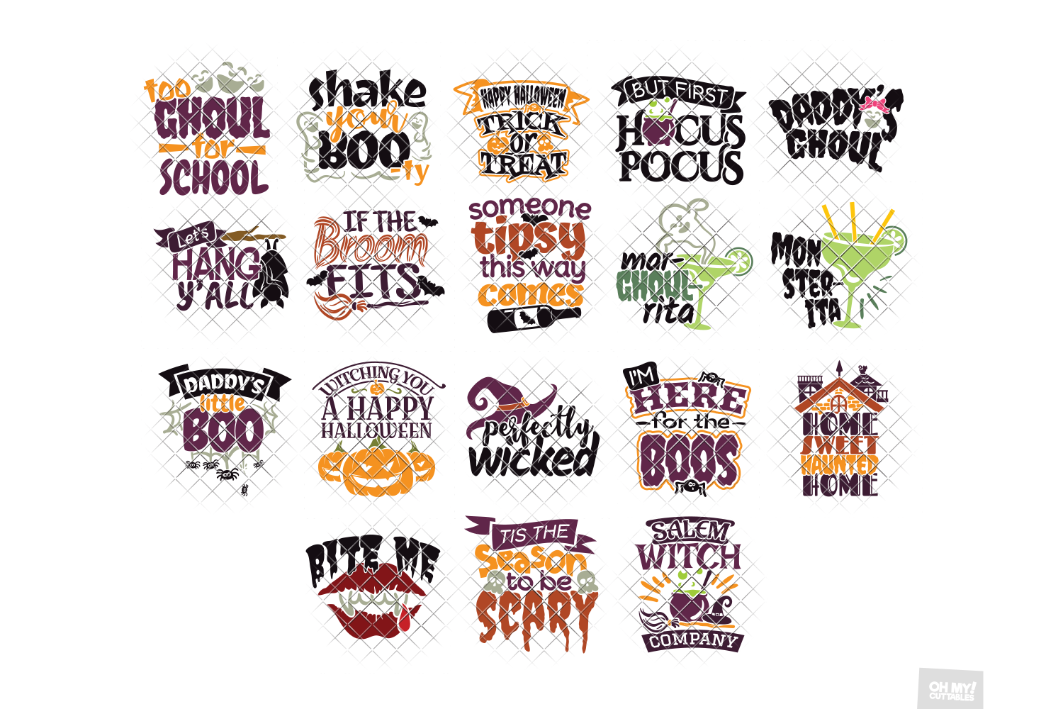 Halloween SVG Quotes & Phrases Bundle in SVG, DXF, PNG, EPS example image 6