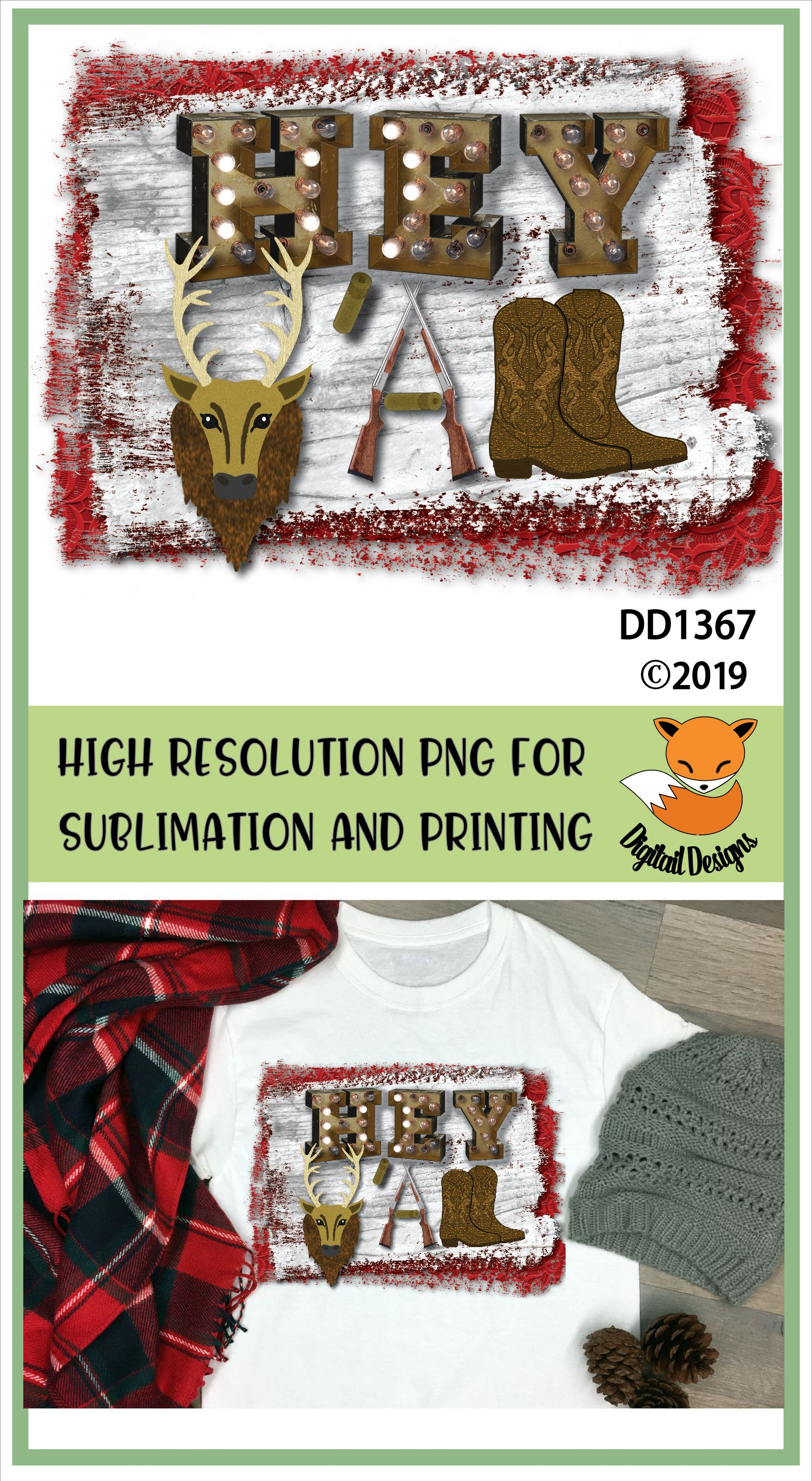 Hey Y'all Western Sublimation Printable example image 2