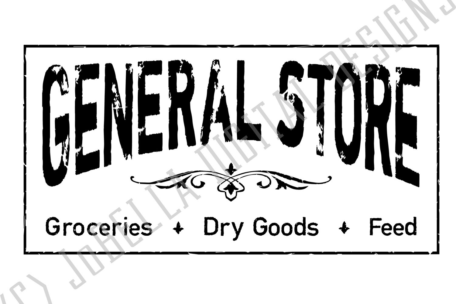 Distressed General Store SVG and Printable Farmhouse Design example image 2