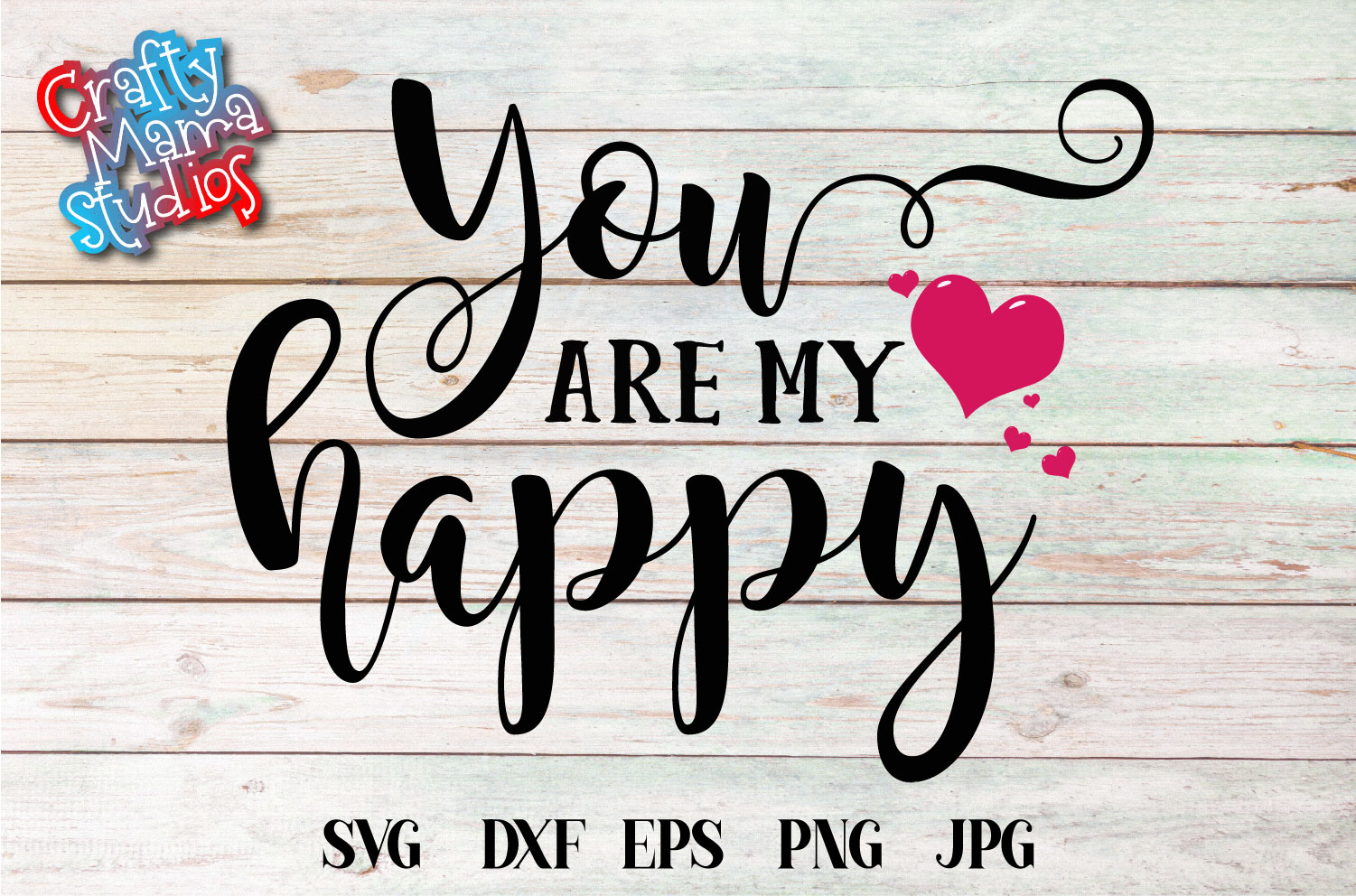 You Are My Happy SVG, Wedding, Love Sublimation example image 2