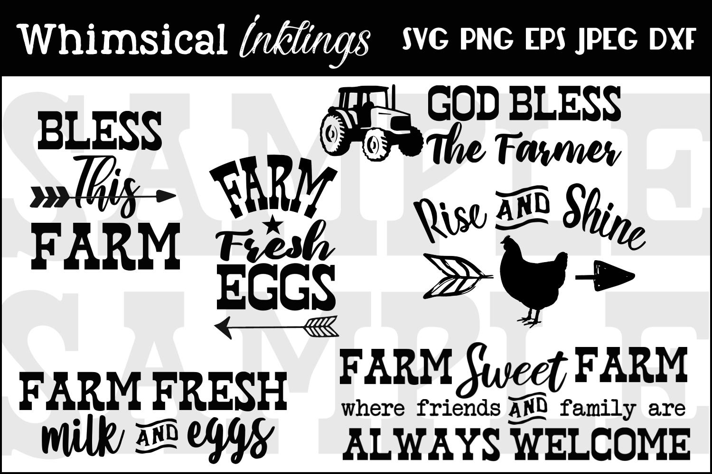 God Bless The Farmer SVG Set example image 2